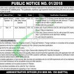 PO Box 158 Quetta Jobs