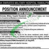 Pakistan Emirate Military Hospital Rawalpindi Jobs 2019