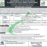 Planning & Development Department Gilgit Baltistan Jobs 2019
