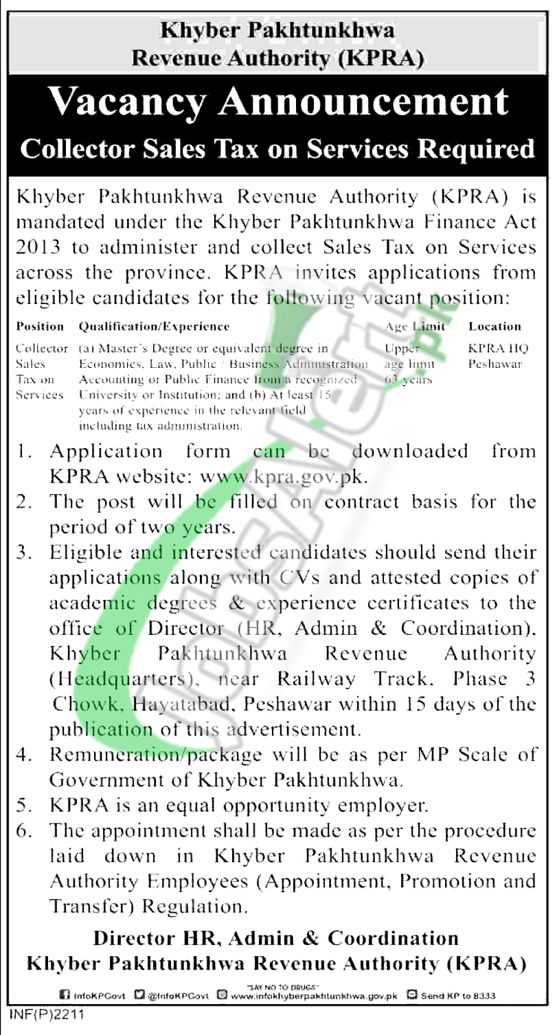 KPRA Jobs 2019