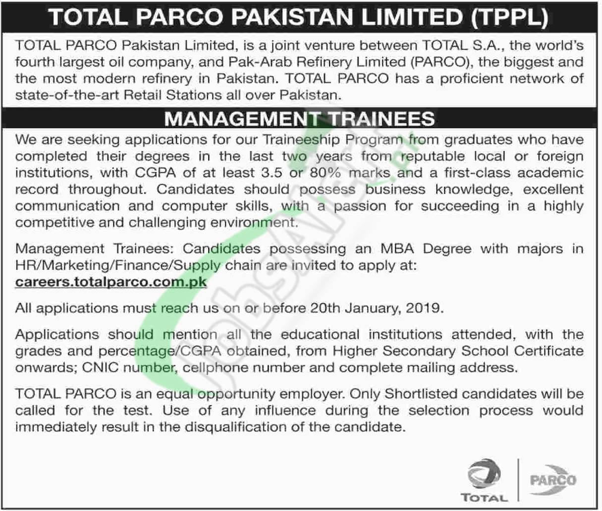 Total PARCO Jobs 2019