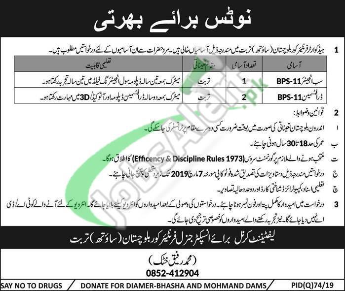 FC Balochistan South Jobs 2019