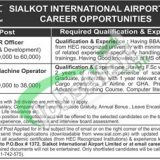 Sialkot International Airport Jobs