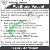 University of Engineering & Technology Peshawar Jobs 2020