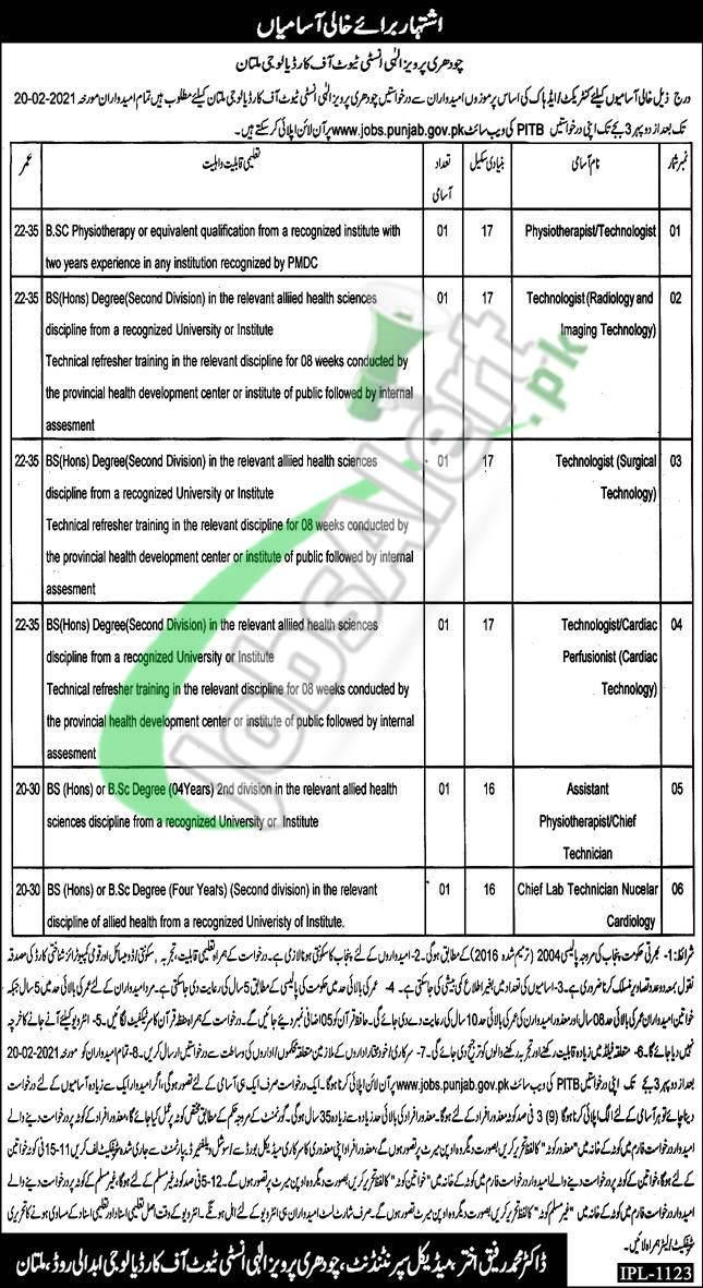 CPEIC Multan Jobs