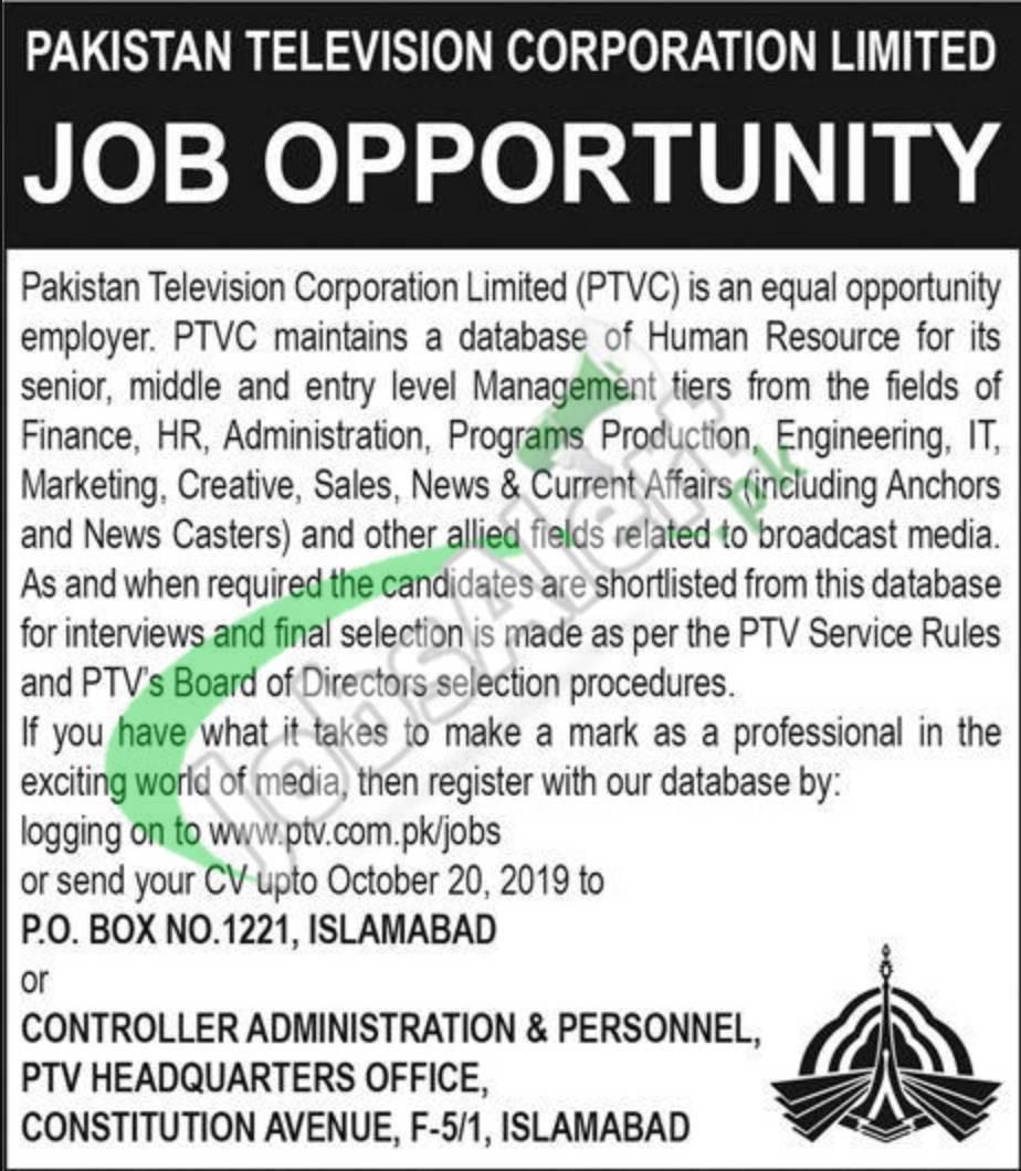 PTV Jobs
