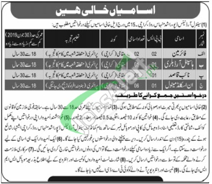 Central Ordnance Depot Karachi Jobs 2019