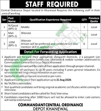 COD Khanewal Jobs