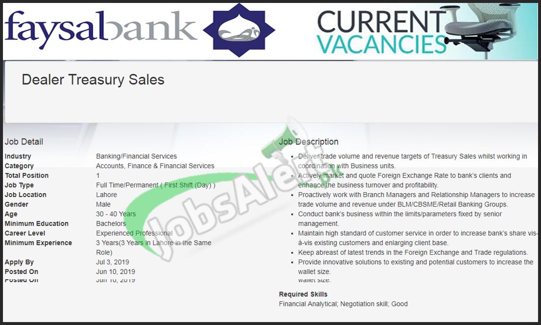 Faysal Bank Jobs