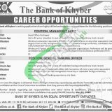 Bank of Khyber Jobs 2019