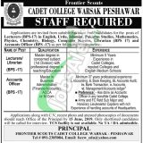 Cadet College Peshawar Jobs