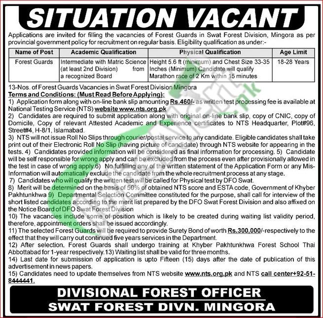 Forest Department KPK Jobs