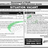 Appellate Tribunal Sindh Revenue Board Jobs