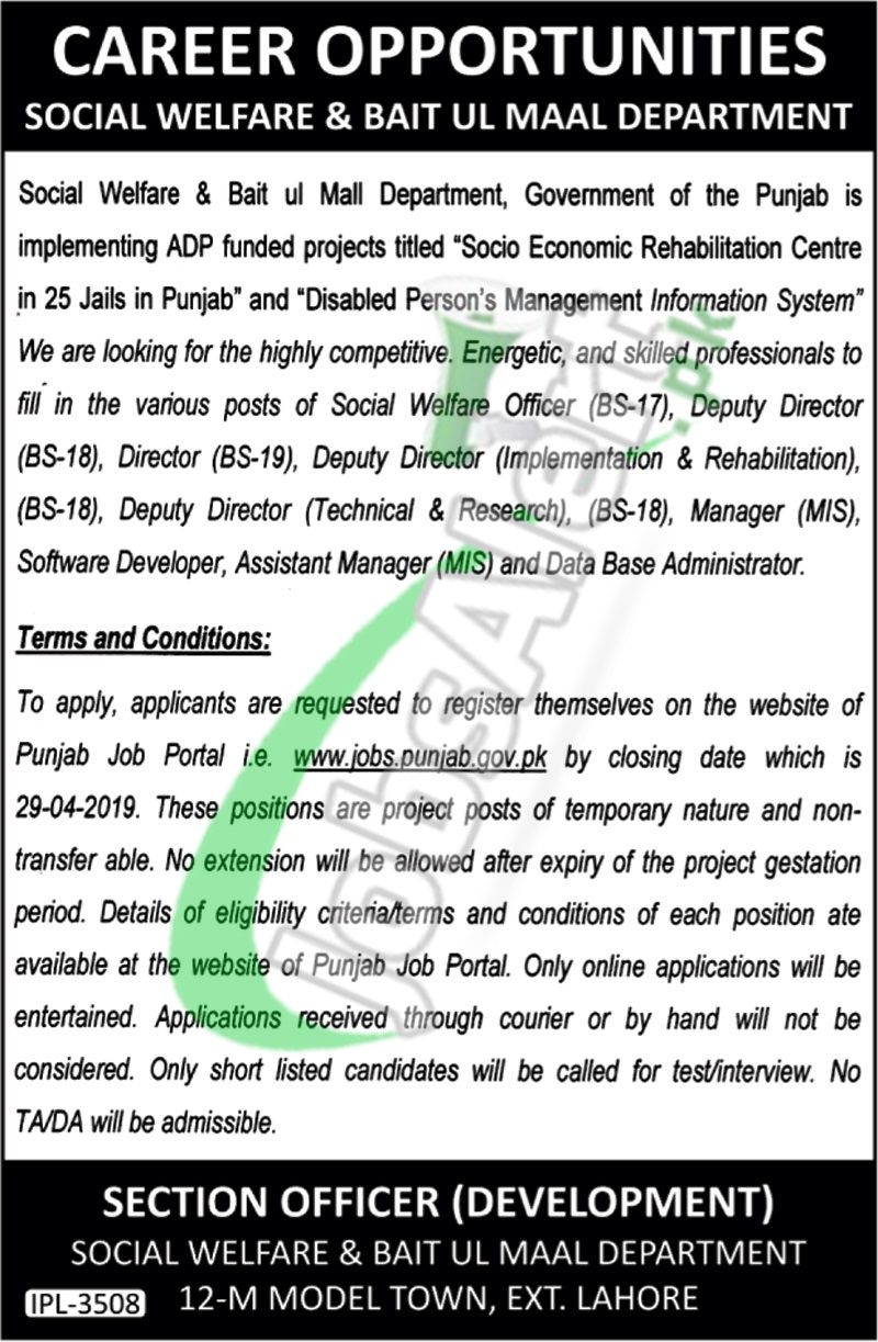 Punjab Bait Ul Mal Jobs