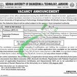 Mehran University of Engineering & Technology Jobs