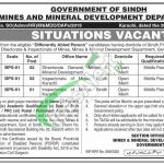 Mines and Mineral Development Department Sindh Jobs