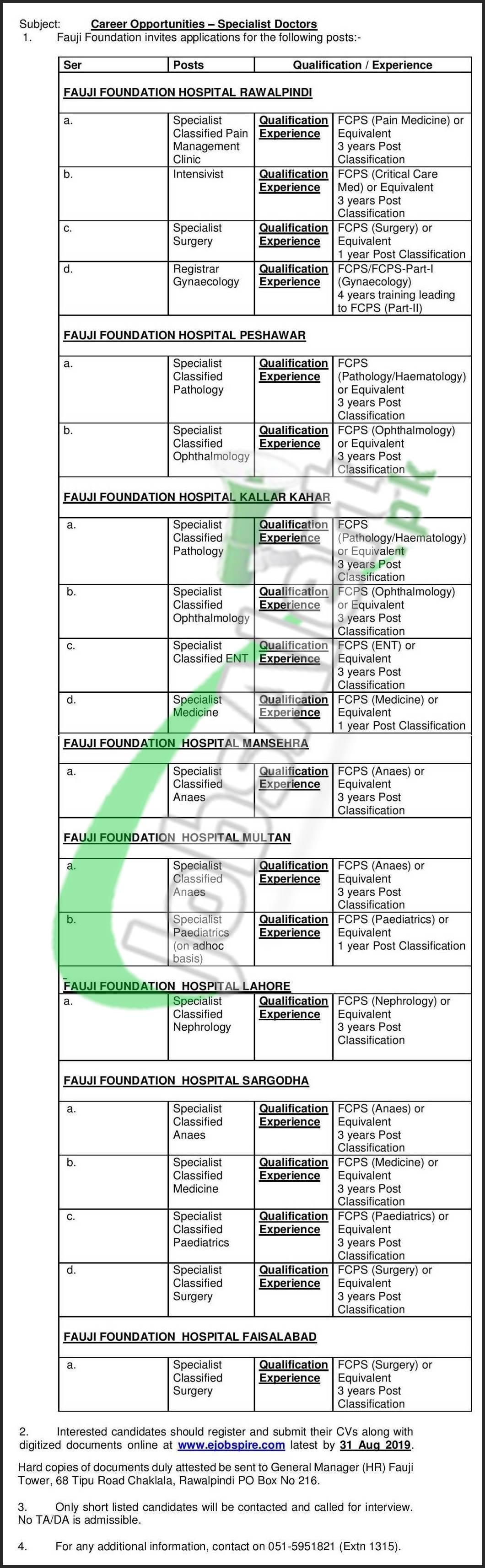 Fauji foundation hospital rawalpindi pakistan