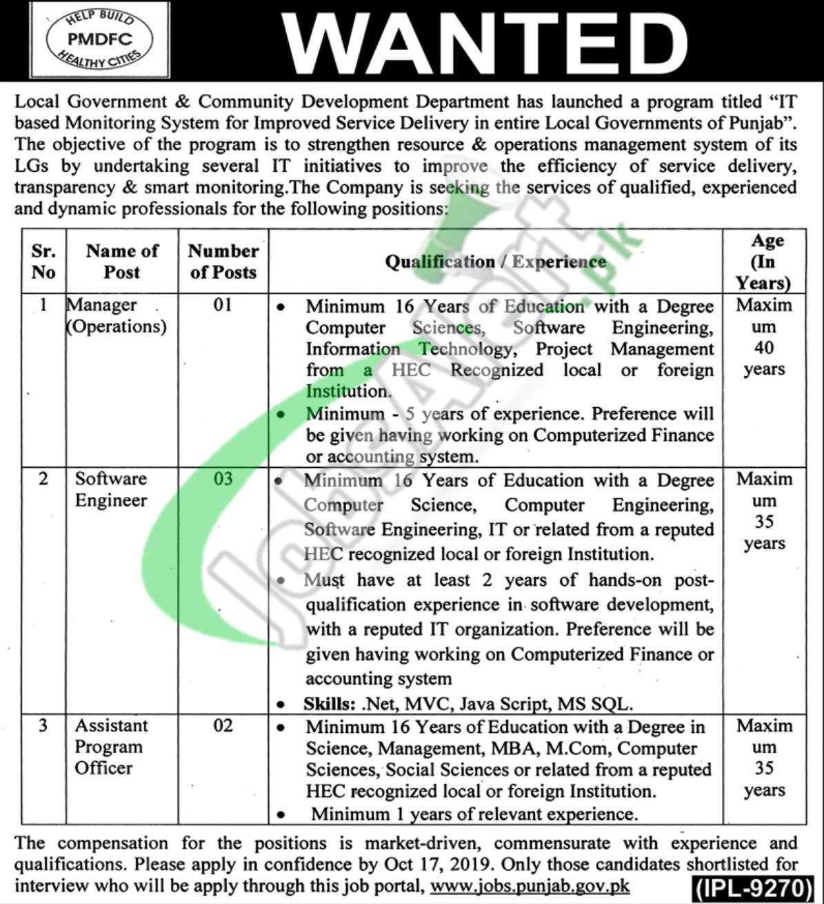 Punjab Local Government Jobs