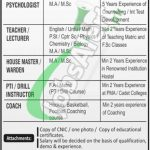 Cadet College Sargodha Jobs