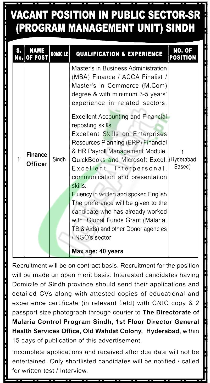 Finance Officer Jobs
