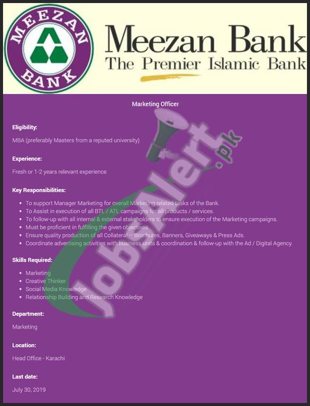 Meezan Bank Jobs 2019 Karachi