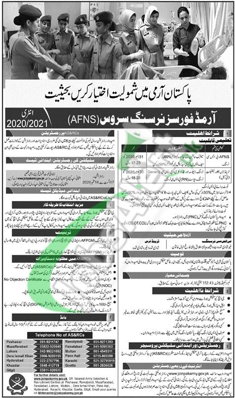 Join Pak Army AFNS