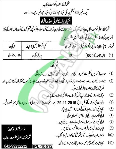 Government of Punjab Environment Protection Department Lahore Jobs