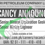 Mari Petroleum Company Limited MPCL Jobs 2019