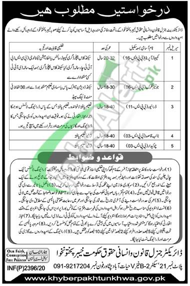 Law and Human Rights Department KPK Jobs
