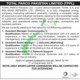 Total Parco Pakistan Limited Jobs