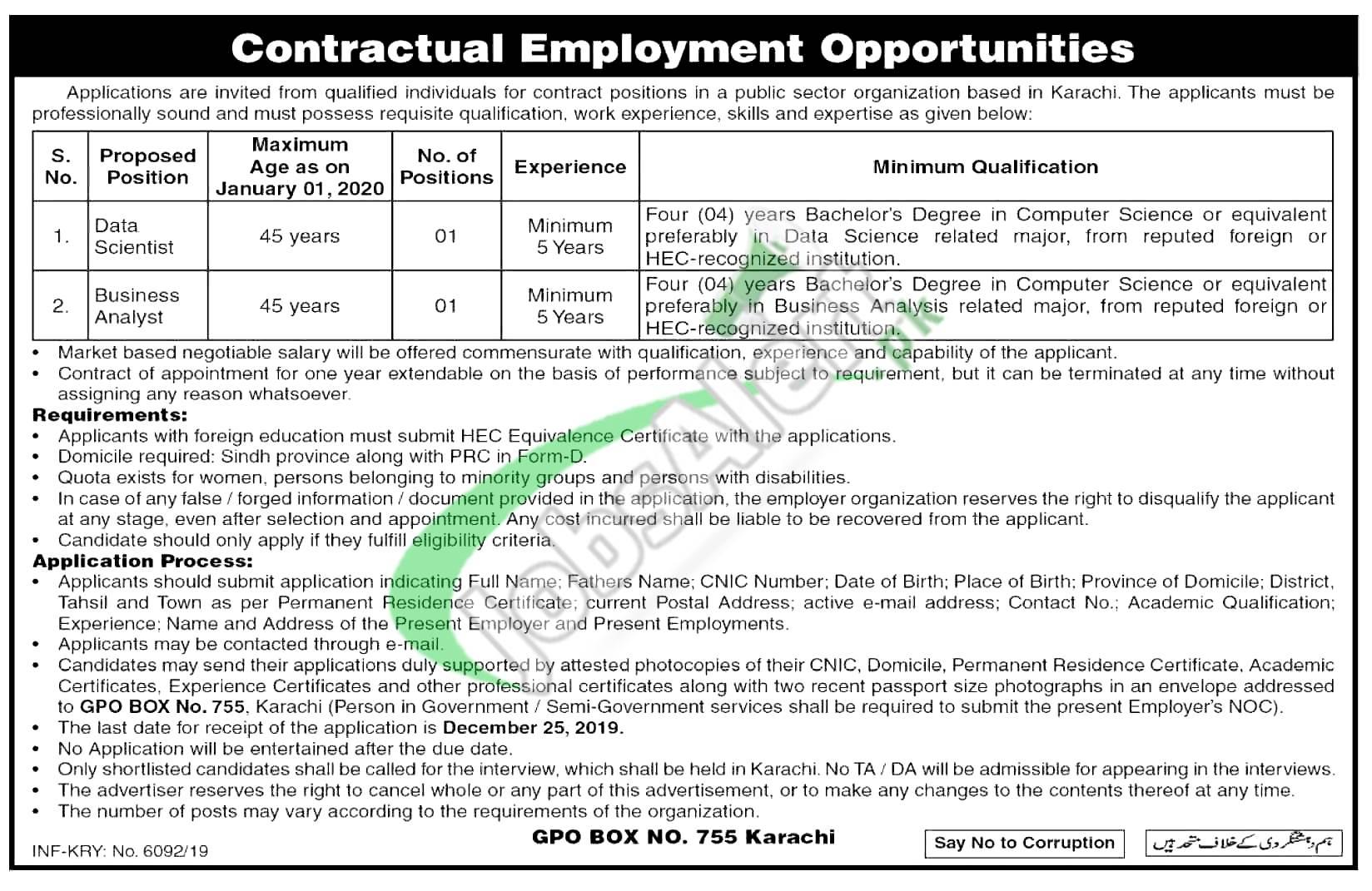 Contractual Employment Opportunities 2019 Jobs