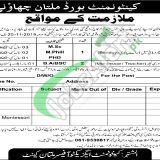 Cantonment Board Multan Jobs 2019