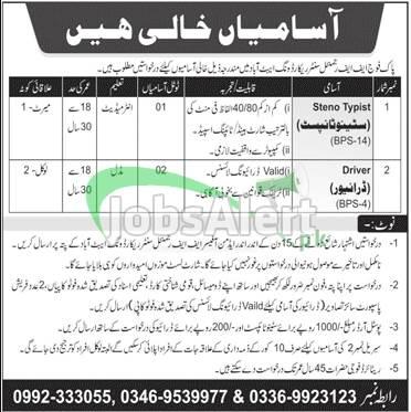 FF Regimental Centre Record Wing Abbottabad Jobs