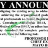 Mayo Hospital Lahore Jobs