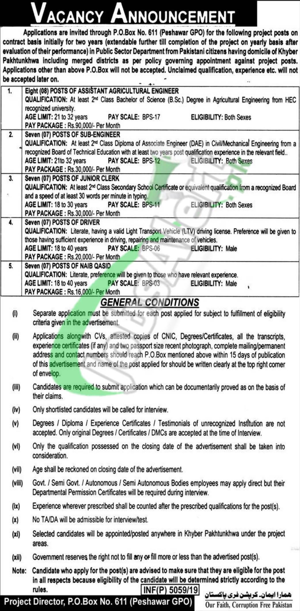 PO Box 611 GPO 2019 Peshawar KPK