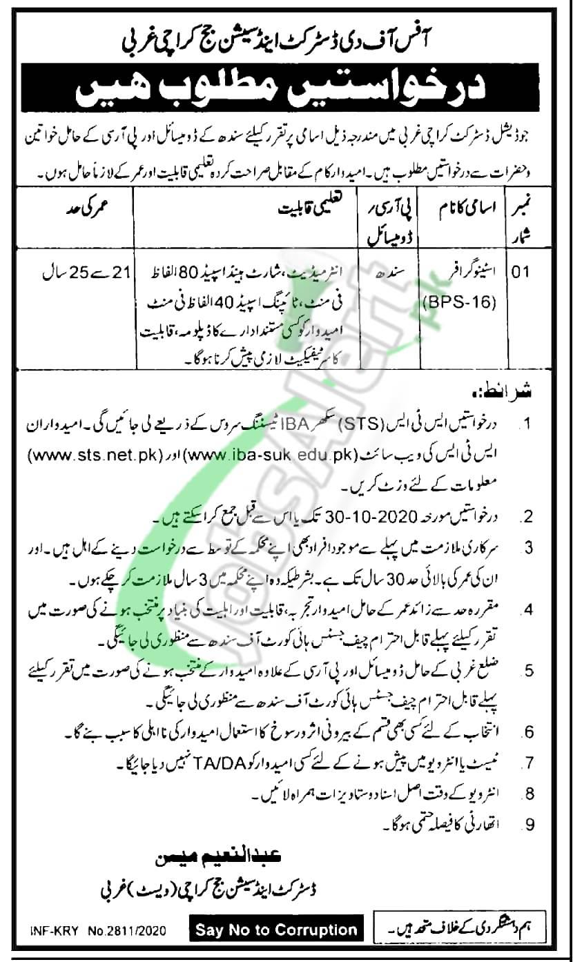 Session Court Karachi Jobs