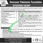 Overseas Pakistanis Foundation Jobs