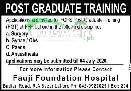 FCPS Post Graduate Training