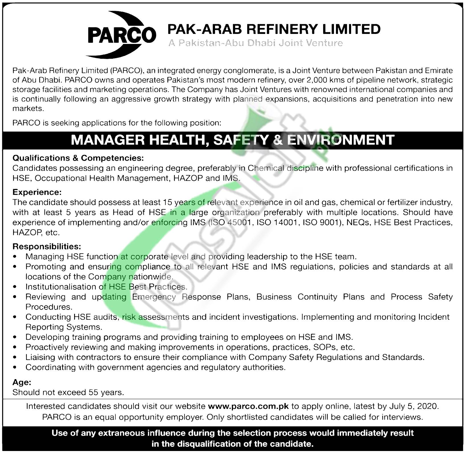 Manager Health Safety & Environment Jobs