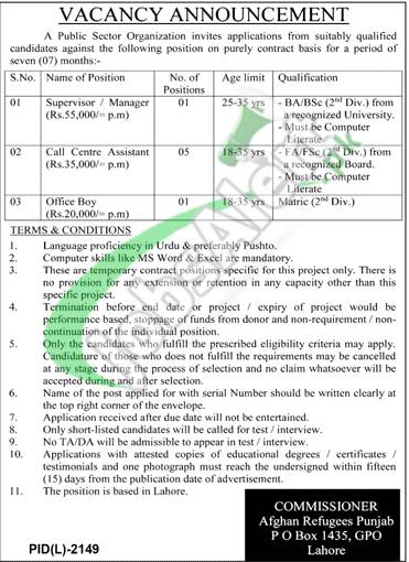 PO Box 1435 Lahore Jobs