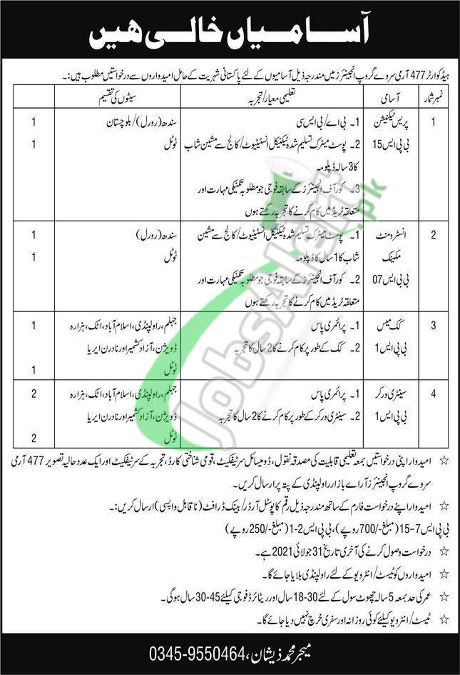 Headquarter 477 Army Survey Group Engineers Jobs