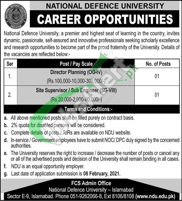 National Defence University Jobs