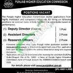 Punjab Higher Education Commission Jobs