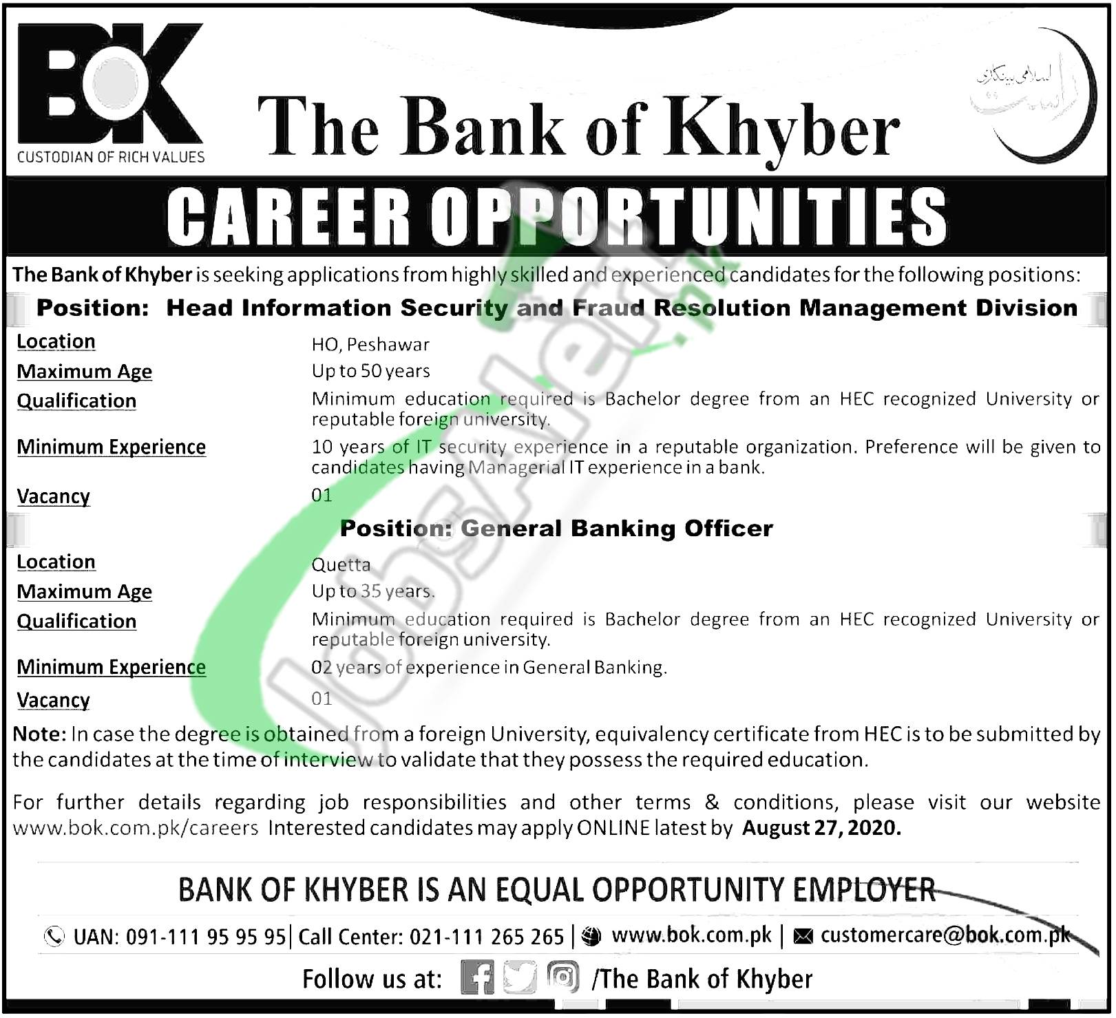 General Banking Officer Jobs