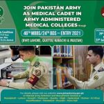 Join Pak Army as Medical Cadet