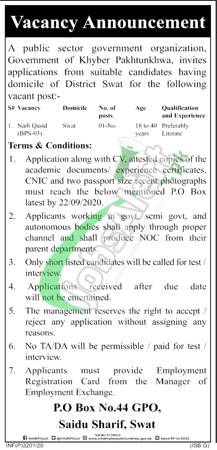PO Box 44 Swat Jobs
