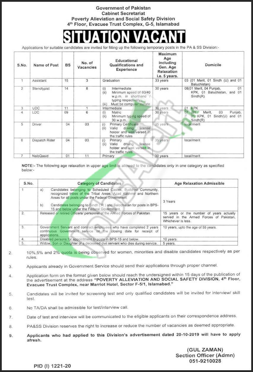 Poverty Alleviation & Social Safety Division Jobs