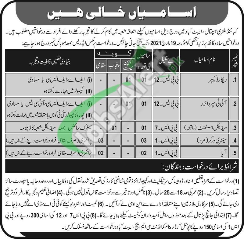 CMH Abbottabad Jobs