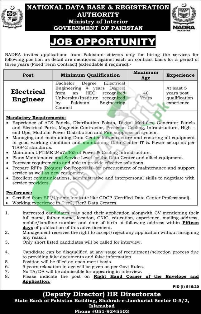 www.nadra.gov.pk Jobs