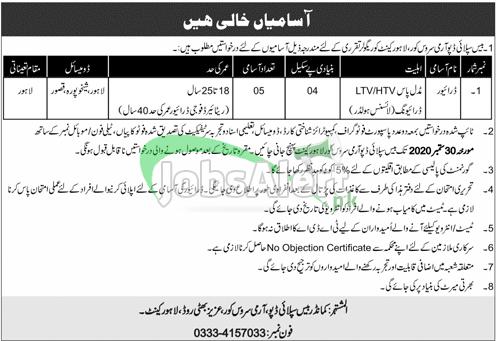 Base Supply Depot ASC Lahore Jobs